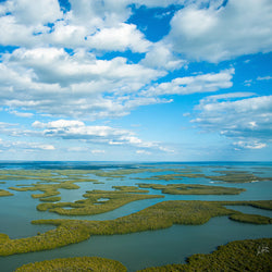 Aerial View of Ten Thousand Islands in Everglades National Park