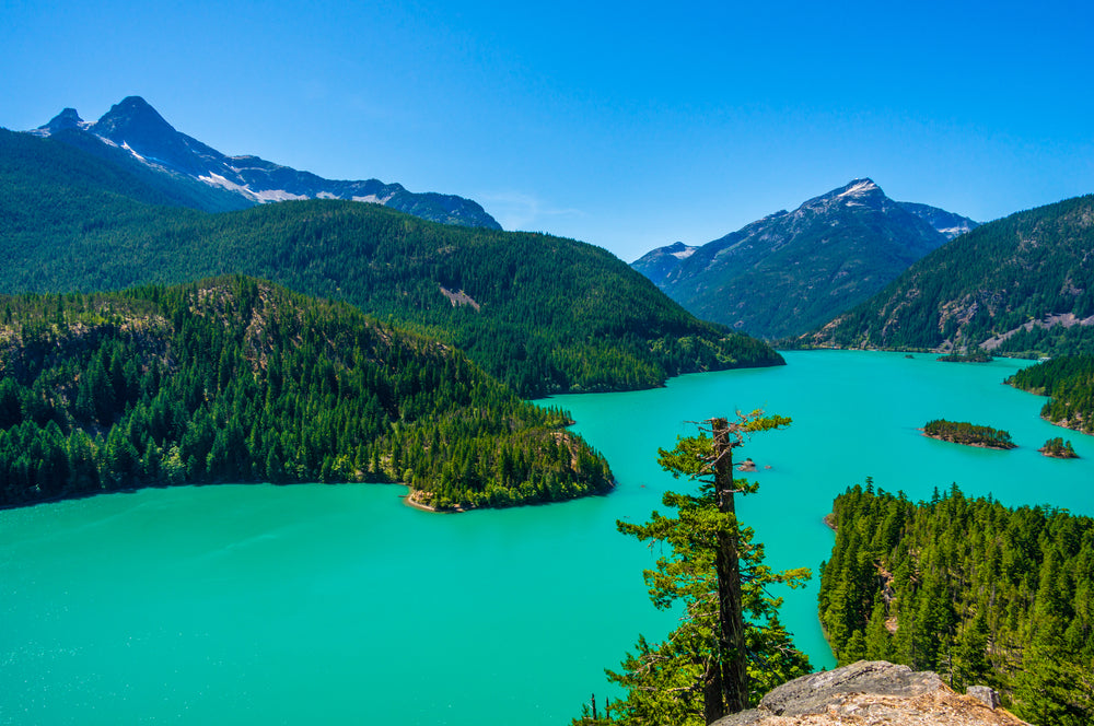 Amazing View of Diablo Lake at North Cascades National Park