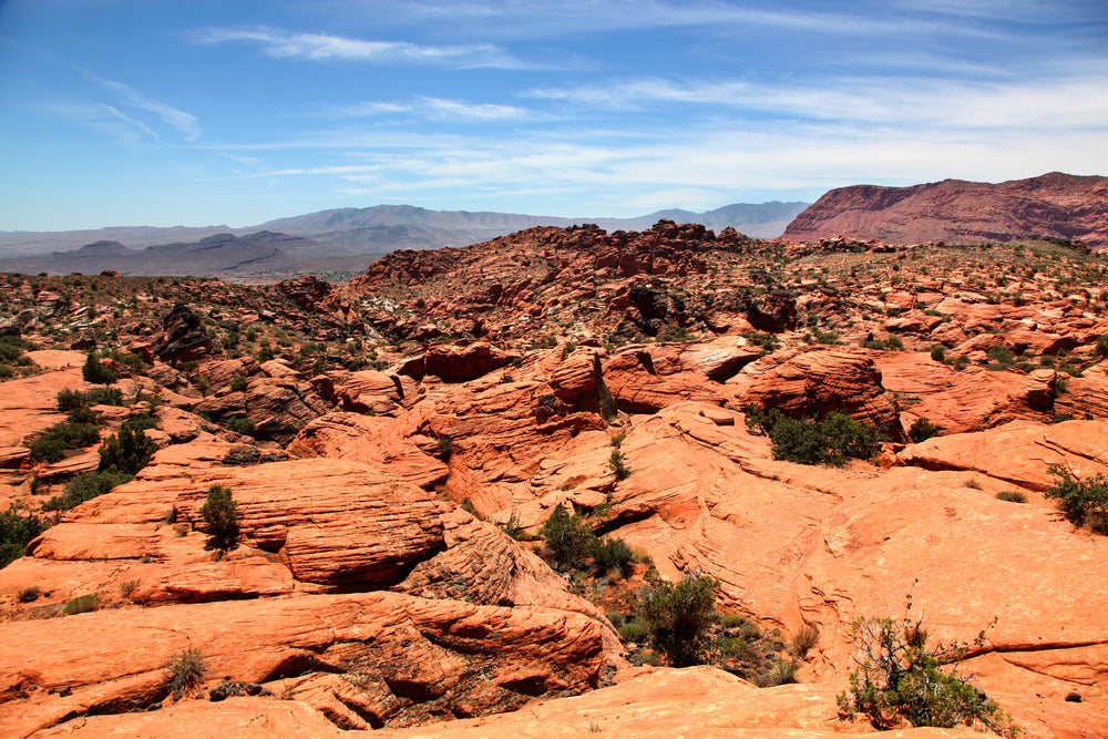 Arid Red Rock in Snow Canyon State Park Utah