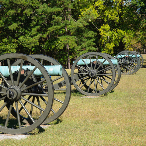 Battlefield cannons at Chickamauga and Chattanooga National Military Park