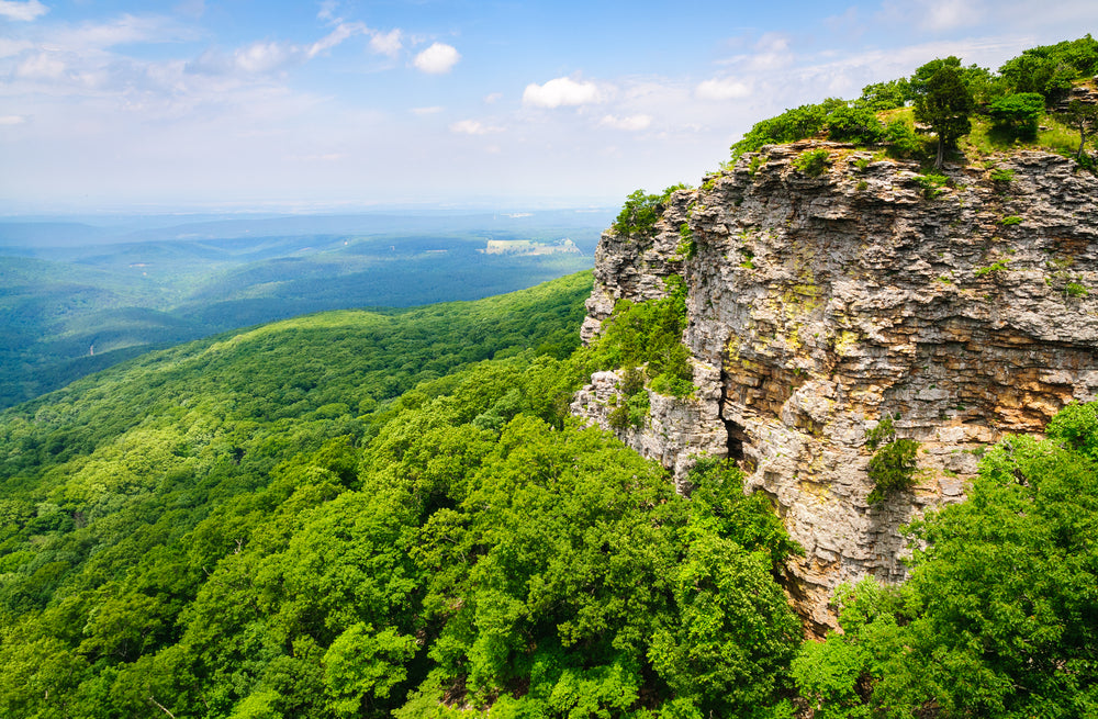 Beautiful Sunny Day View of Mount  Magazine State Park Arkansas