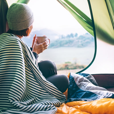 morning coffee while Camping