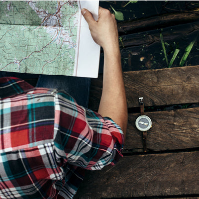 learning the map while camping at a table