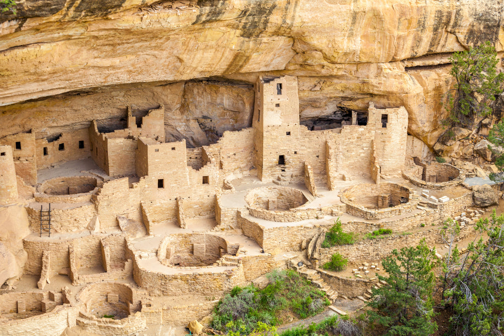 Cliff Dwellings Up Close in Mesa Verde National Parks Colorado