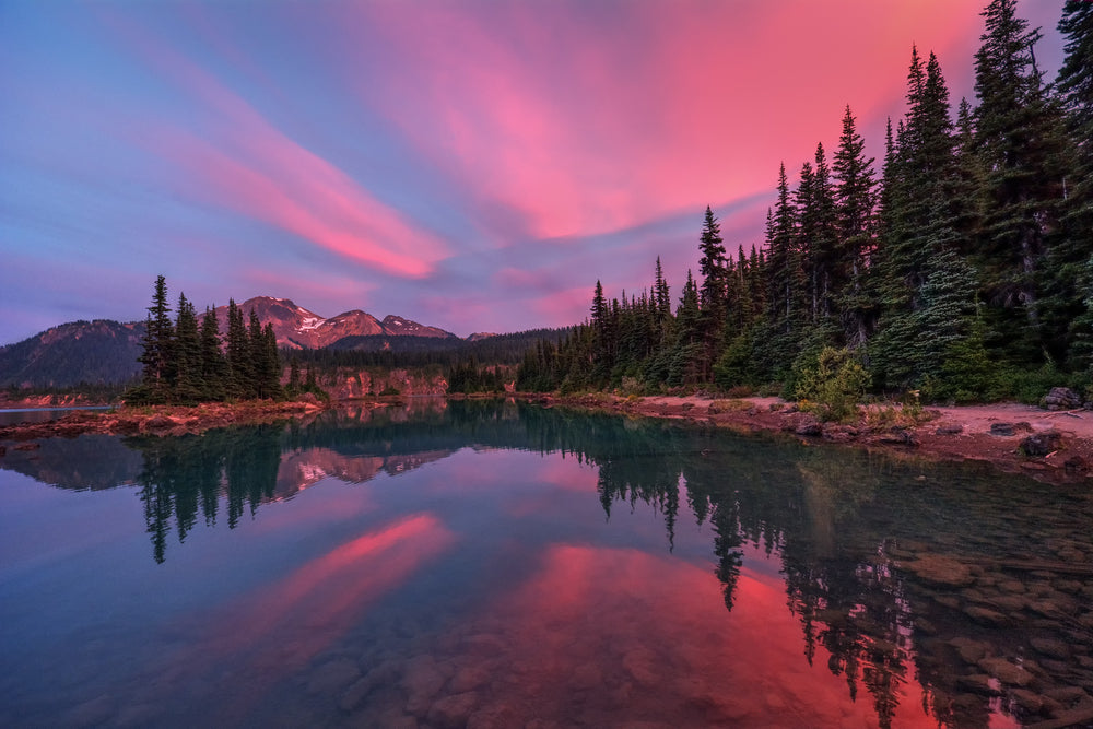 Colorful View of Sunset in Gates of The Artic National Park Alaska