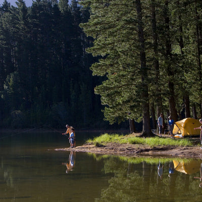 fishing by the water near the rv park