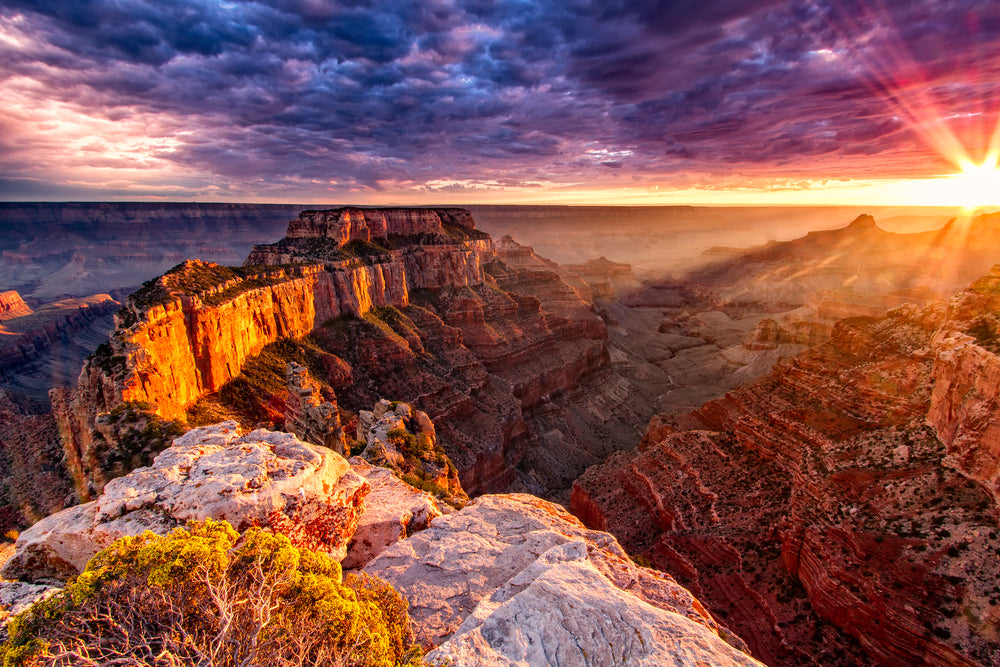 Gorgeous Sunset View of North Rim Grand Canyon National Park Arizona