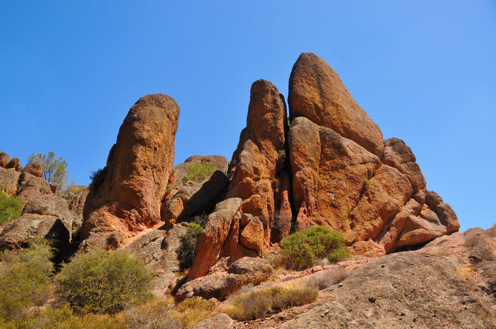 High Peaks Rock Formations on a Sunny Day in Pinnacles National Park California