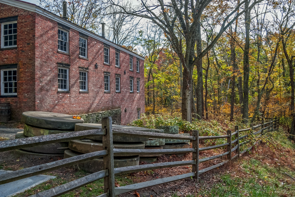 Historic Millstones in Allaire State Park New Jersey