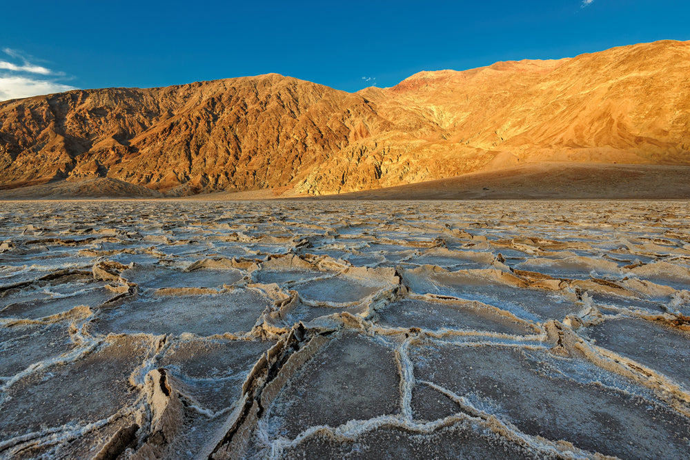 Lake Dadwater in Desert Within Death Valley National Park California