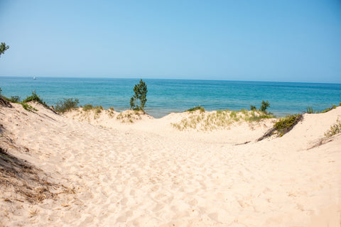 Lake Michigan Beach in Silver Lake State Park