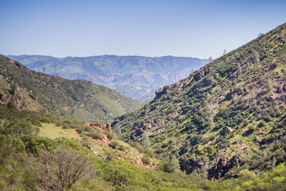 Landscape View of Trail Towards North Chalone Peak Hain Wilderness in Pinnacles National Park