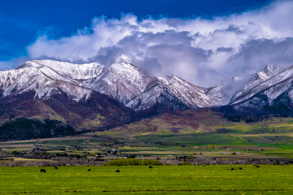 Mountain View With Clouds in Montana