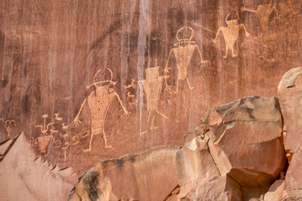 Native American Petroglyphs in Capitol Reef National Park Utah