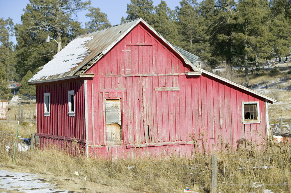 Red Barn on Mescalero Apache Indian Reservation Alto New Mexico
