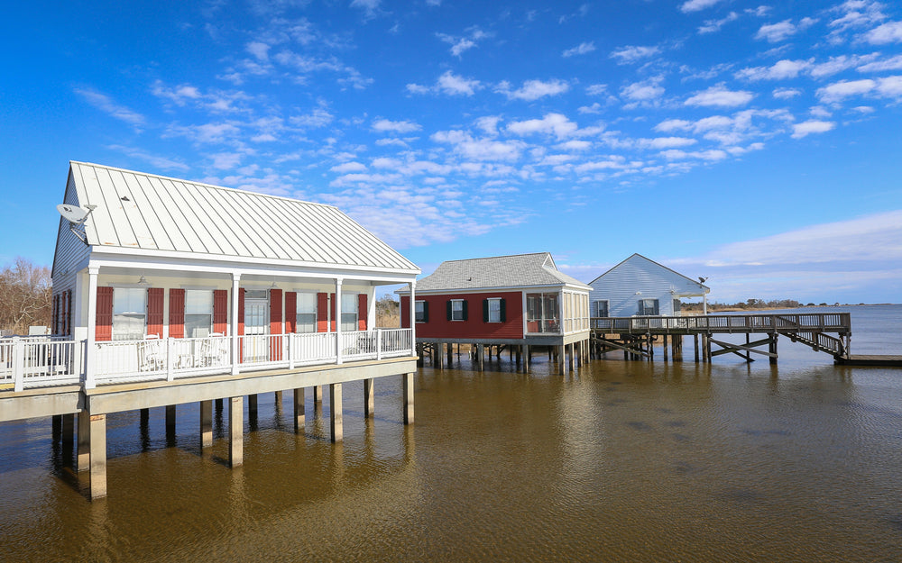 Rental Cabins Perched Over Lake Pontchartrain in Fontainebleau State Park Louisiana