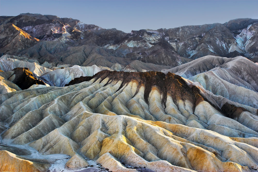 Rippled Rock Formations of Zabriskie Point in Death Valley National Park California