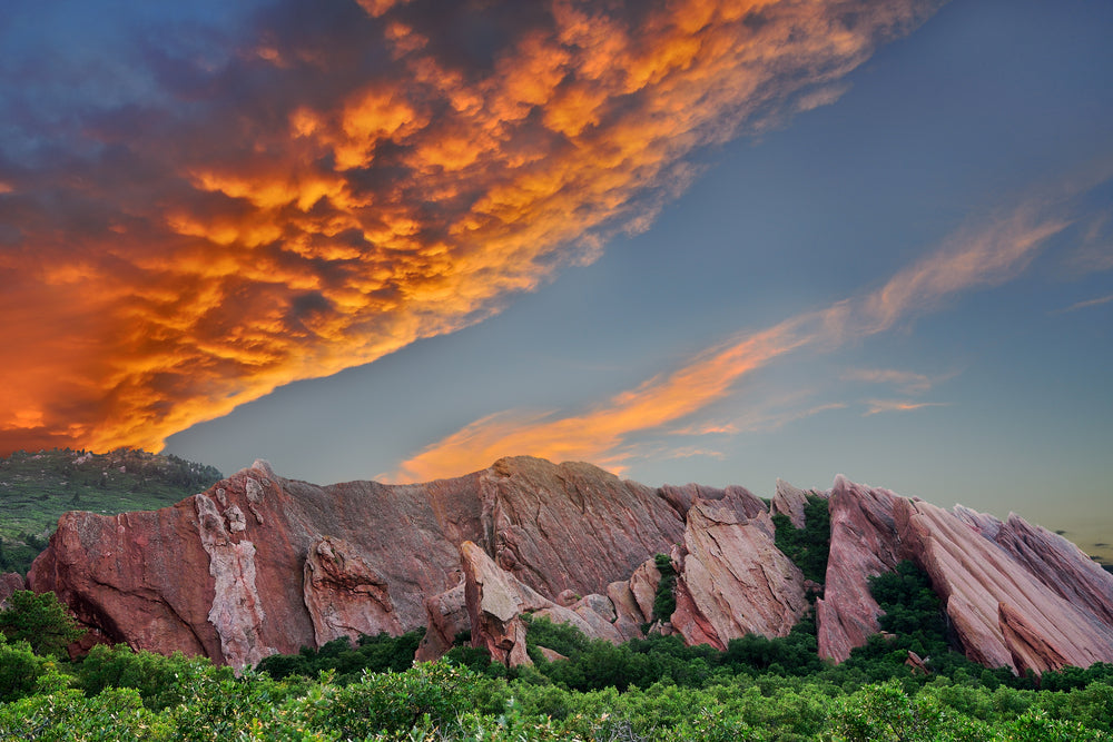Roxborough State Park During Sunset in Colorado