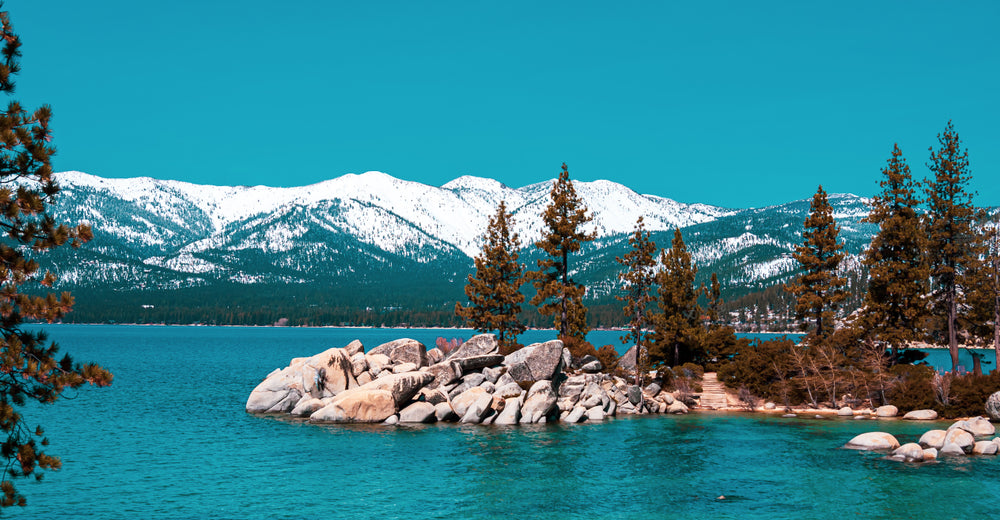 Sand Harbor During Winter at Lake Tahoe Nevada State Park Nevada