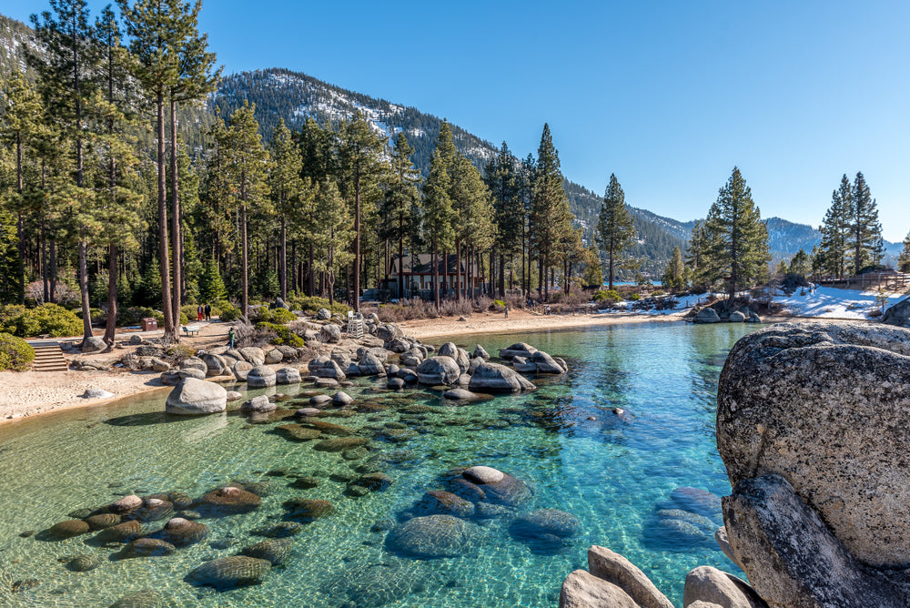 Sand Harbor on a Beautiful Sunny Day at Lake Tahoe Nevada State Park Nevada
