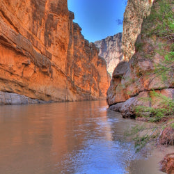 Santa Elena Canyon and Rio Grande at Big Bend National Park