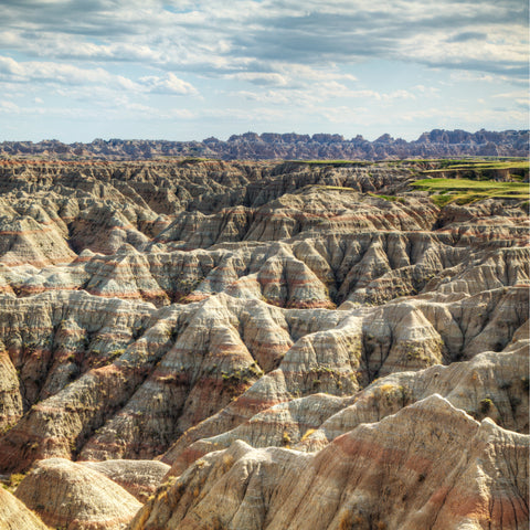 Scenic view in Badlands National Park South