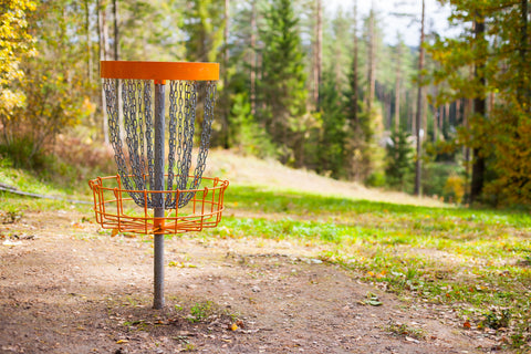 Disc golf in the campground