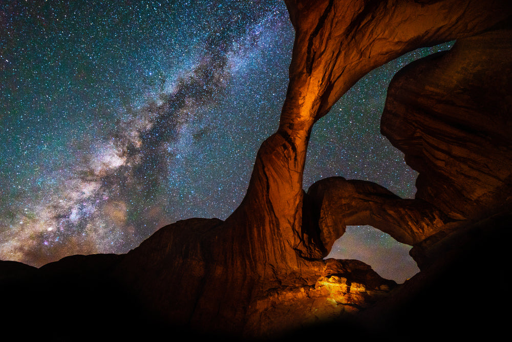 Sky View of Milky Way at Arches National Park Utah