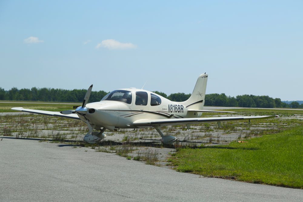 Small Airplane at Trenton Maine Bar Harbor Airport