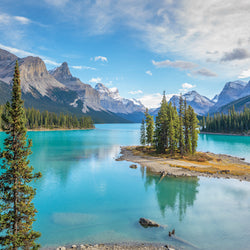 Spirit Island of Maligne Lake in Jasper National Park Alberta Canada