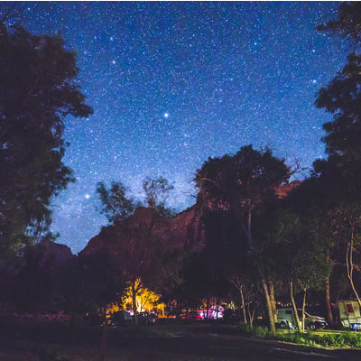 sleeping under the stars at the rv park