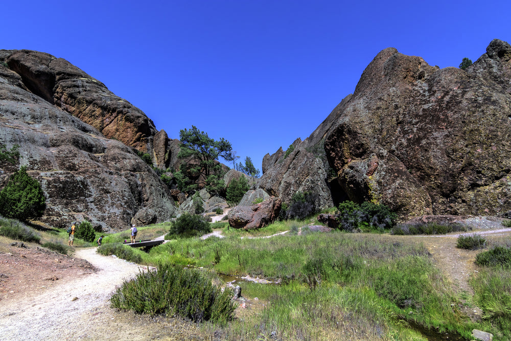 Sunny Day View of Hiking Trails at Pinnacle National Park California