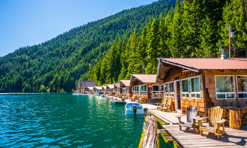 Sunny Day View of Ross Lake at North Cascades National Park