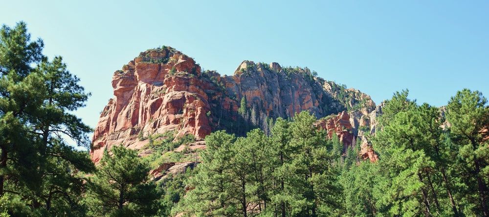 Sunny Day View of Slide Rock at Slide Rock State Park Arizona