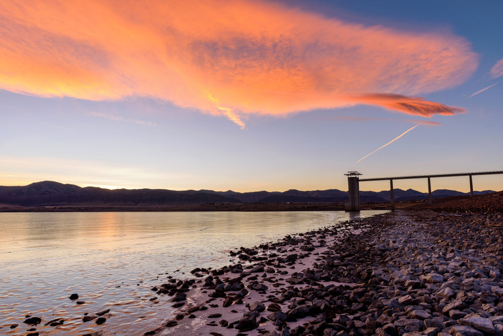Sunset During Winter Chatfield State Park Colorado