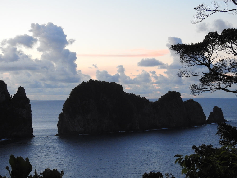 Sunset Over Pola Island at national Park of American Samoa
