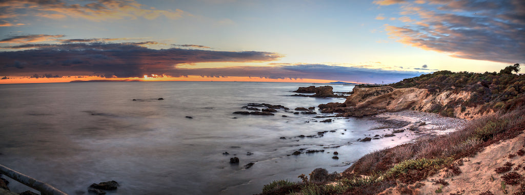 Sunset View Over Crystal Cove at Crystal Cove State Park California