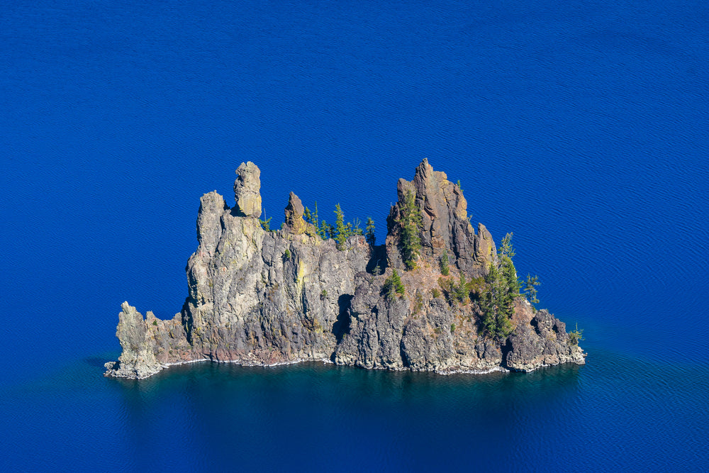 The Phantom Ship on the Blue in Crater Lake National Park Oregon