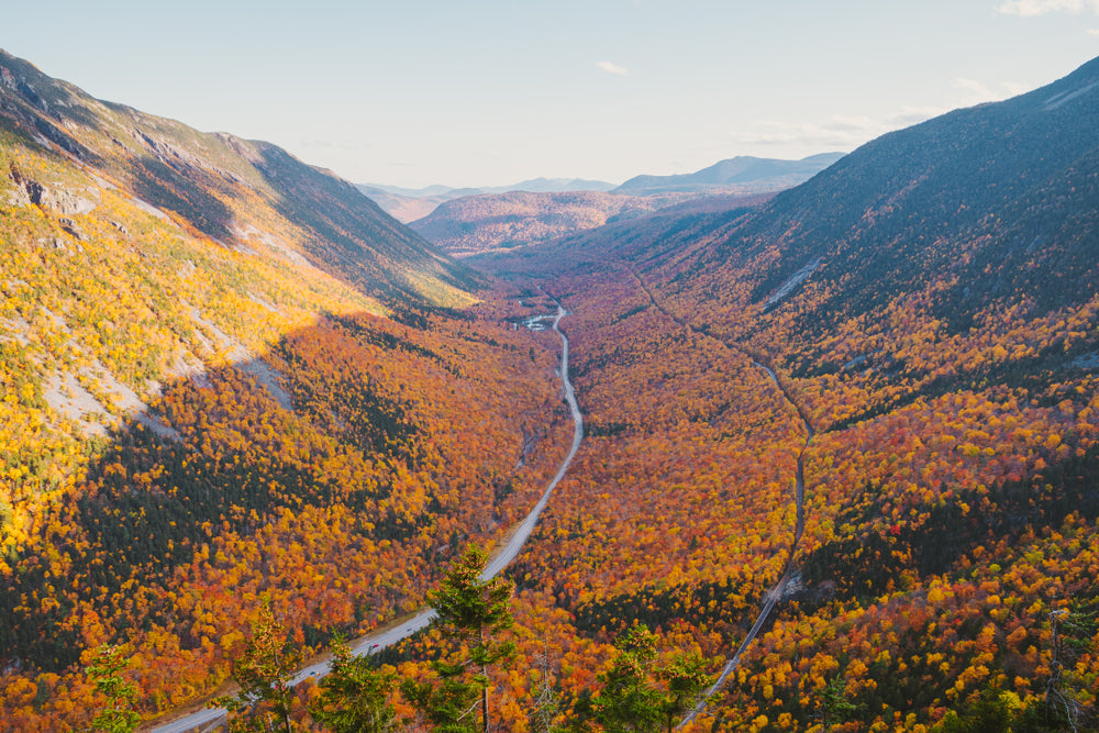 View of Autumn Day at Crawford Notch State Park New Hampshire