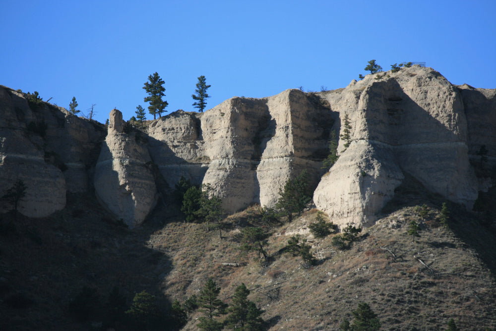 View of Bluffs in Fort Robinson State Park Nebraska