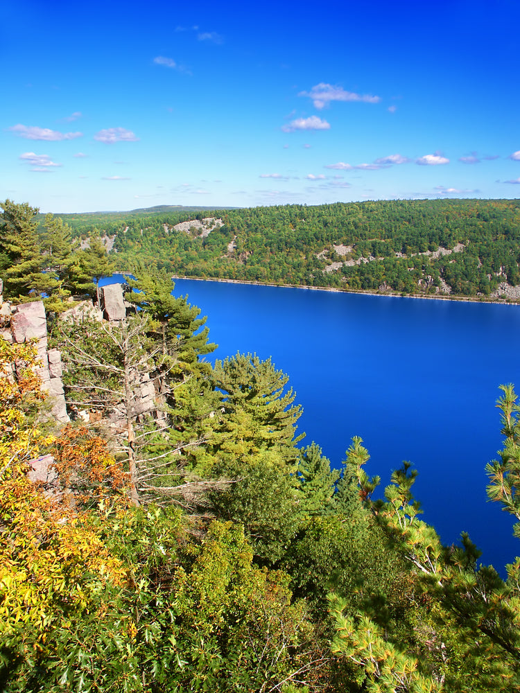 View of Devils Lake on Sunny Day Devils Lake State Park Wisconsin