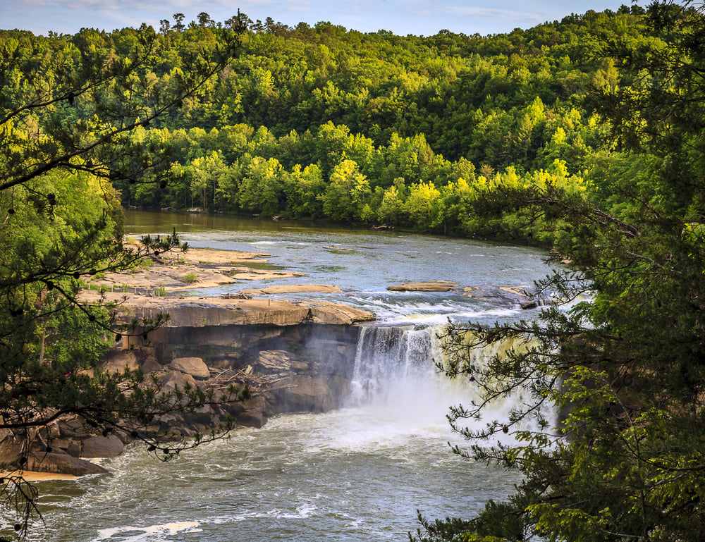 View of Falls in Cumberland Falls State Park Kentucky