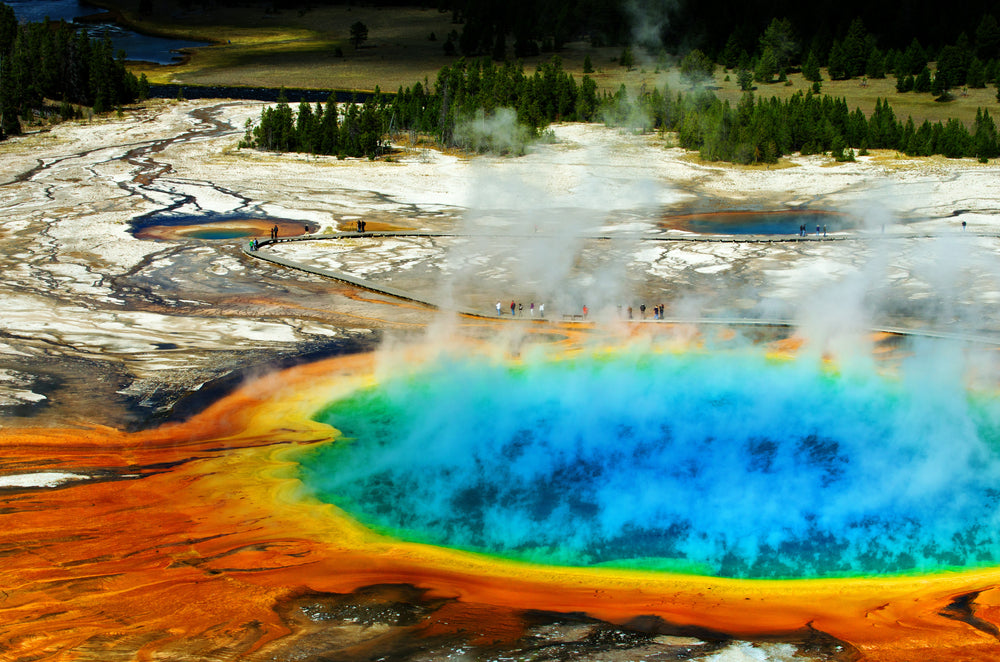 View of Grand Prismatic Pool a Yellowstone National Park