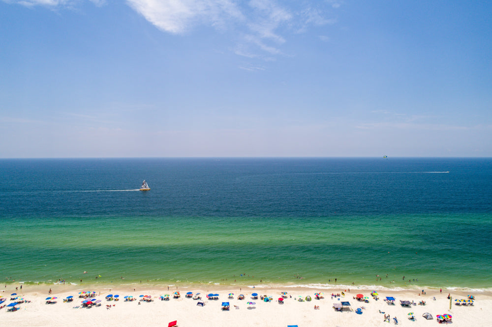View of Gulf Shores in Gulf State Park Alabama