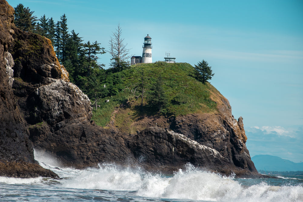 View of Lighthouse in Cape Disappointment State Park Washington