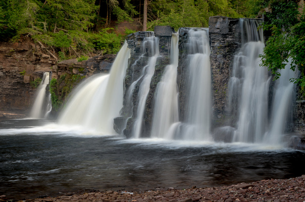 View of Manabezho Falls Porcupine Mountains Wilderness State Park Michigan