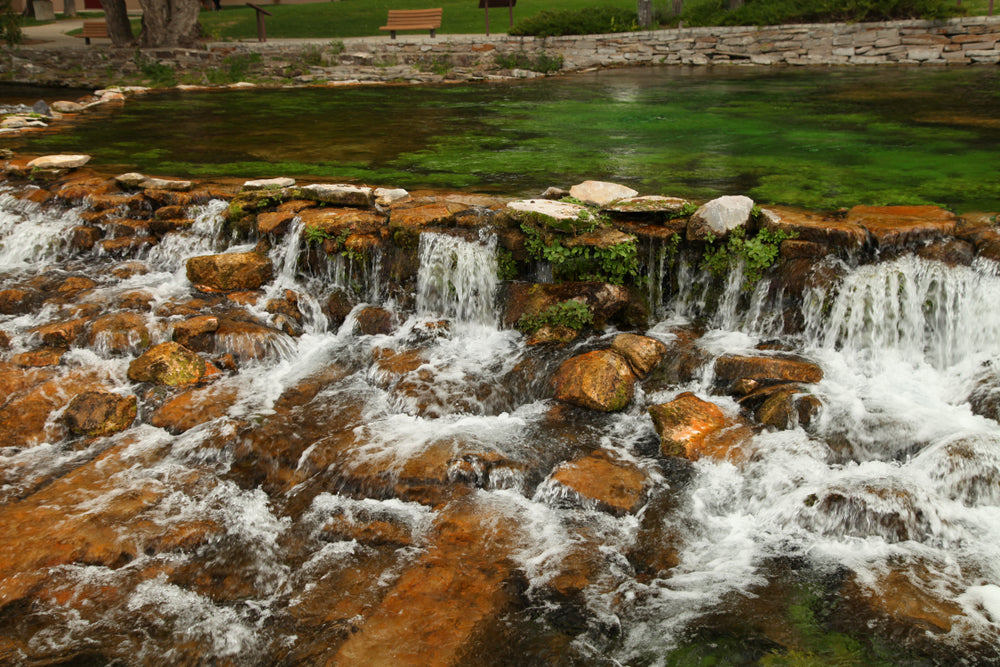 View of Mini Falls in Giant Springs State Park Montana