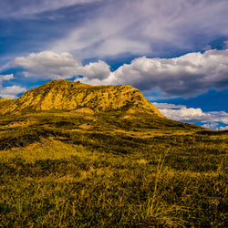 View of mountains and clouds at Grasslands National Park in Saskatchewan