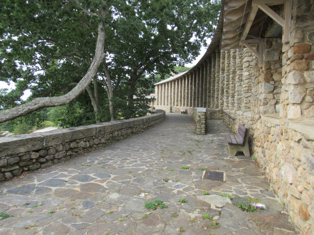 View of Old Cobblestone Architecture in Rocky Neck State Park Connecticut