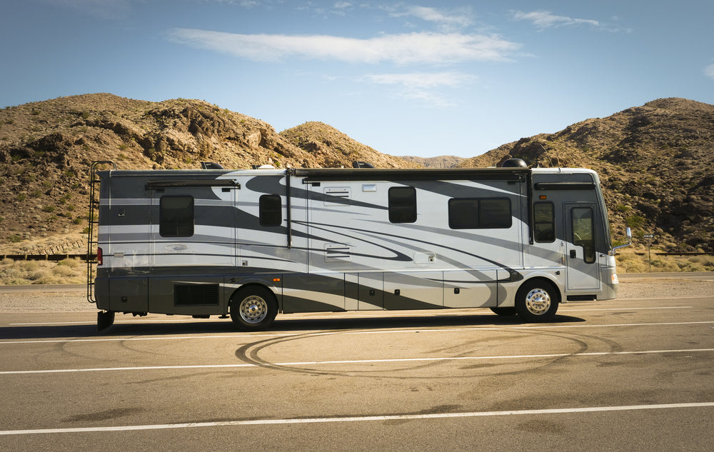 View of RV on Road in Grand Canyon Railway RV Park